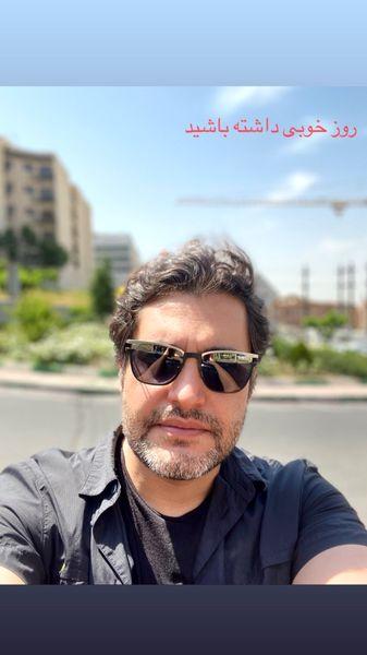 سلفی امیرمحمد زند در یک روز بهاری + عکس