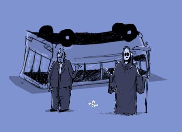 کاریکاتور:: مقصر حادثه علوم و تحقیقات