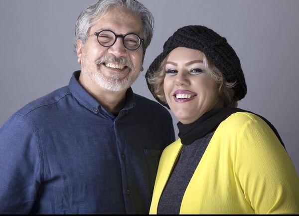 افسانه چهره آزاد با همسرش + عکس