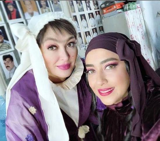 سلفی بهاره کیان افشار در کنار الهام حمیدی