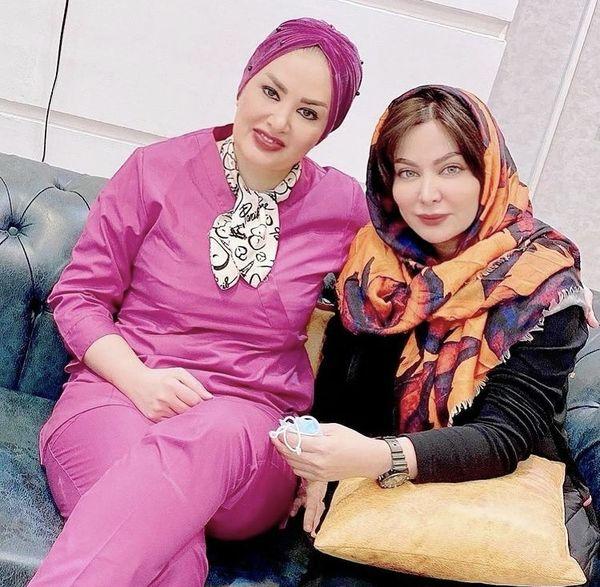 فقیهه سلطانی و دوست پزشکش + عکس