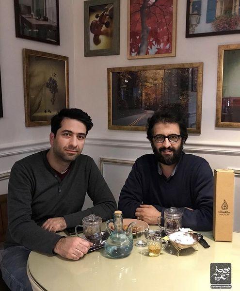 بهروز شعیبی و دوستش در یک رستوران + عکس