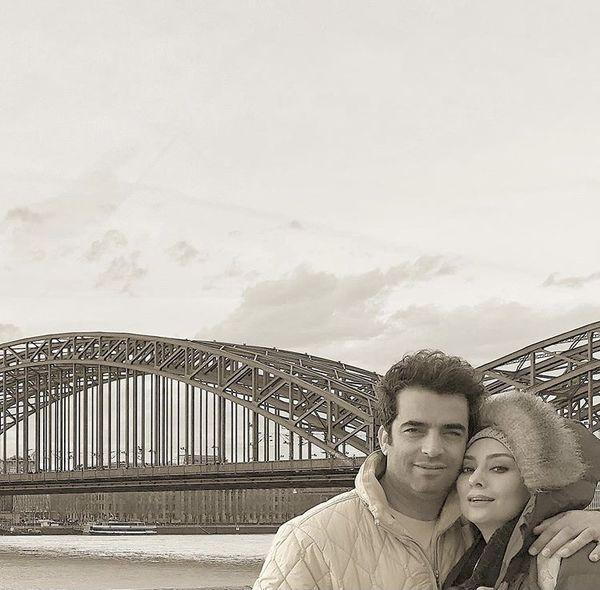 منوچهر هادی و همسرش در سفر + عکس