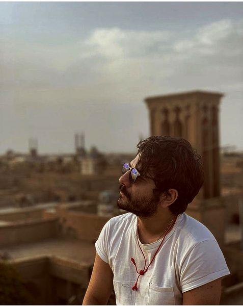 سفر عباس غزالی به شهر زیبای یزد + عکس