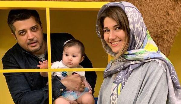 عکس خواهر و دختر شاهرخ استخری با پندار اکبری
