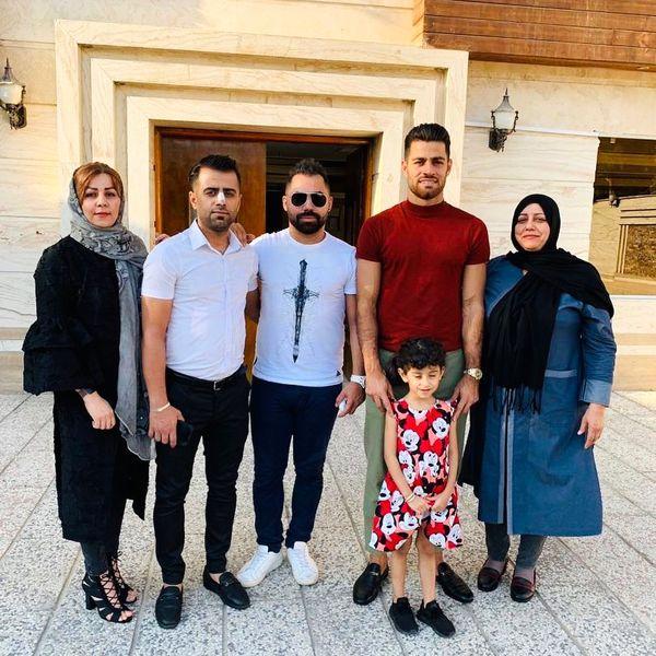 مرتضی پورعلی گنجی و خانواده+عکس