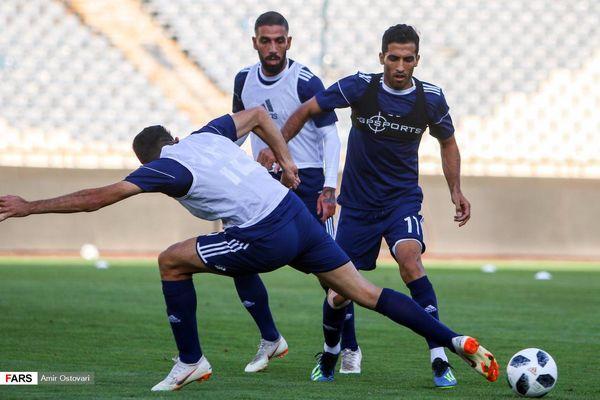 گزارش تمرین تیم ملی فوتبال+عکس