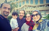 عکس زوج مجری شیرین در کنار خانواده شان