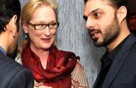 پیمان معادی در کنار خانم بازیگر مشهور هالیوودی+عکس