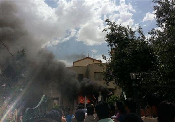 مرقد جعفر طیار در اردن به آتش کشیده شد