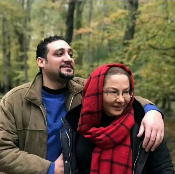 لاله صبوری و همسرش+عکس