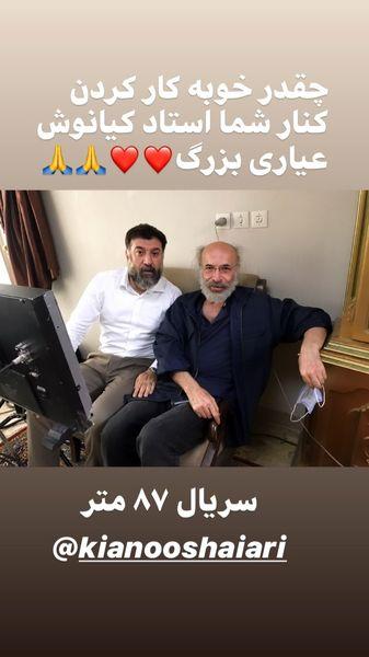 همکاری علی انصاریان با کارگردان معروف + عکس
