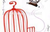 کاریکاتور/ جام از قفس قرمز پرید!