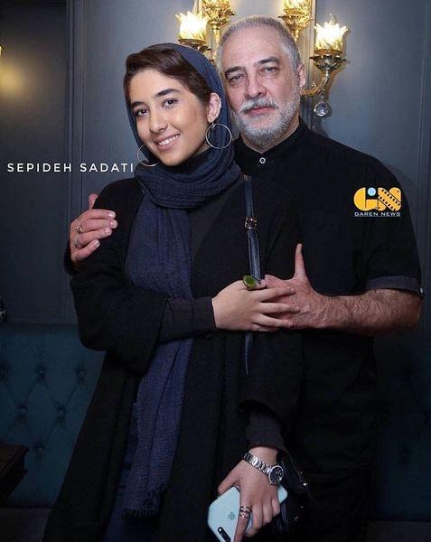 عکس ایرج نوذری و دختر بازیگرش
