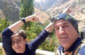 کوهنوردی حضرت والا با پسرش+عکس