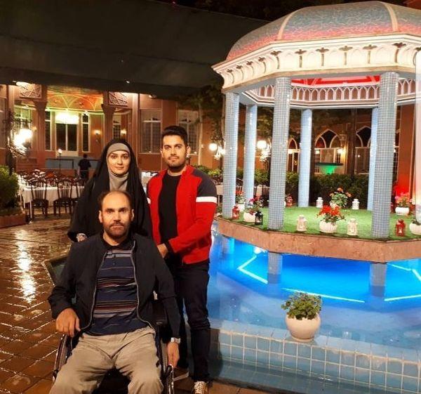 مژده خنجری و همسرش در رستورانی شبیه حافظیه+عکس