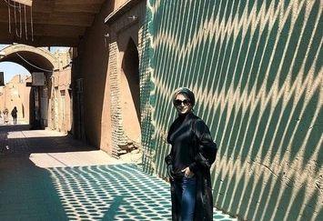 شبنم قلی خانی در شهر بادگیرها+عکس