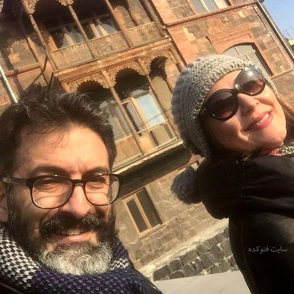 گردش لاله اسکندری و همسرش در خارج از کشور+عکس