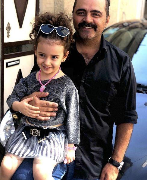 رضا مولایی و خواهرزاده جانش + عکس