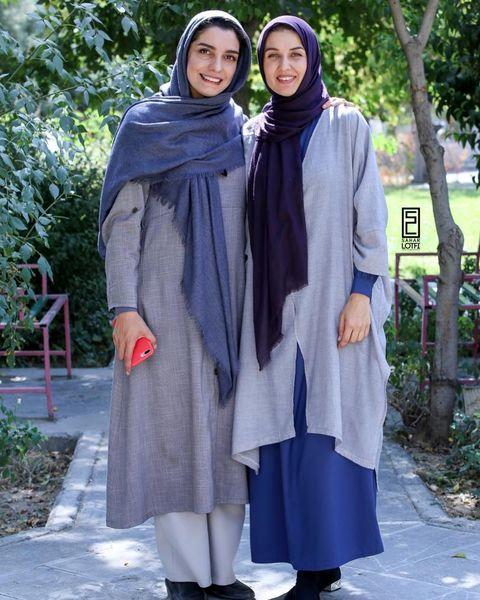 الیکا عبدالرزاقی و همسر ساعد سهیلی در پارک + عکس
