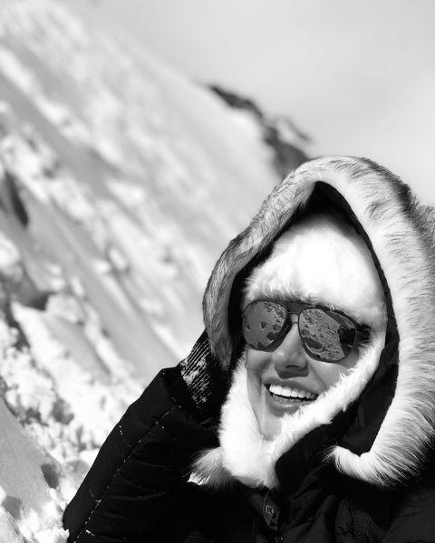 «سمانه پاکدل» در سرمای کوهستان
