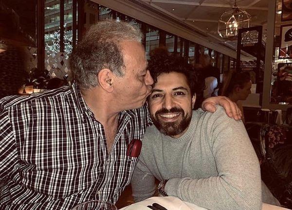 اشکان خطیبی در آغوش پدرش + عکس