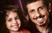 جواد رضویان و دخترش + عکس