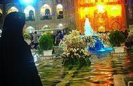 عکس سحر قریشی با چادر در حرم امام رضا(ع)