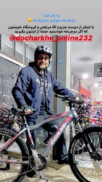 امیرمحمد زند در حال دوچرخه سوتری+ عکس