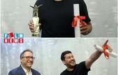 لحظه دریافت جایزه شانگهای چین توسط حامد بهداد