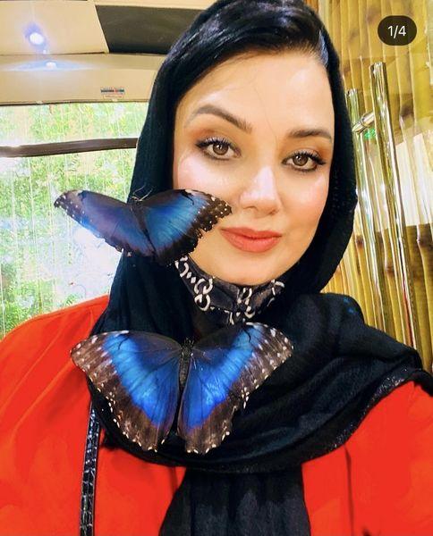 صبا راد در باغ پروانه های دبی + عکس
