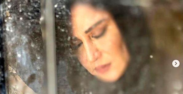 چهره ی غمزده نسیم ادبی با شروع پاییز + عکس