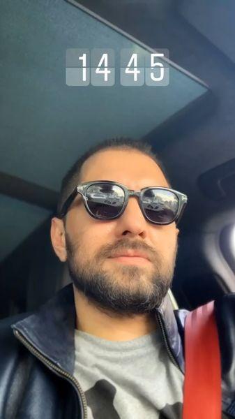 بهرام رادان در ماشینش + عکس