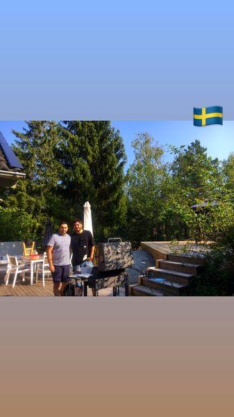 نیما شاهرخ شاهی در یک مهمانی در سوئد + عکس