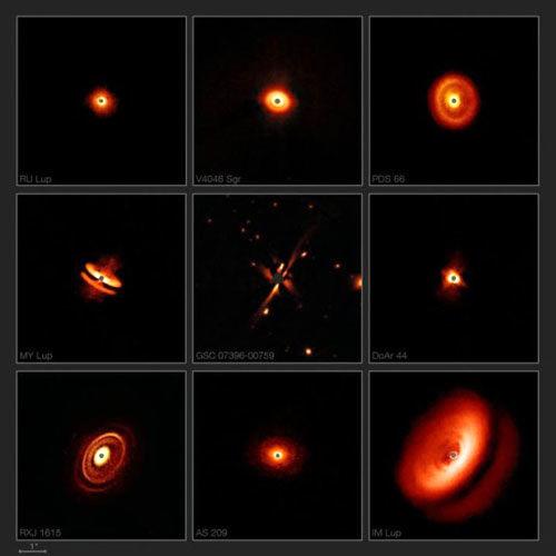 تصاویر دیدنی از حلقه گرد و غبارِ اطراف ستارهها