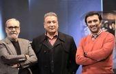 امین زندگانی و عبدالرضا اکبری در برنامه تلویزیونی + عکس