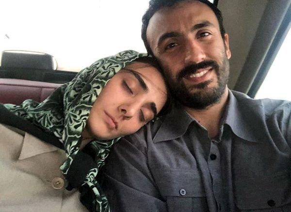 پسر و عروس خوابالوی خانم بازیگر در تاکسی + عکس