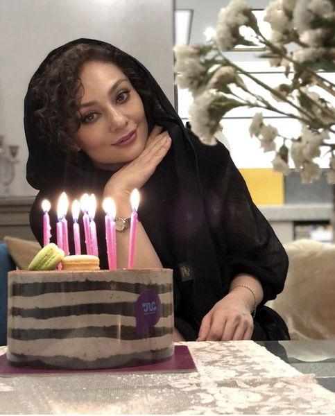 کیک تولد ساده یکتا ناصر + عکس