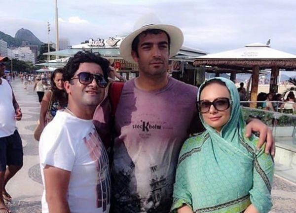 تیپ یکتا ناصر و همسرش در خارج از کشور+عکس