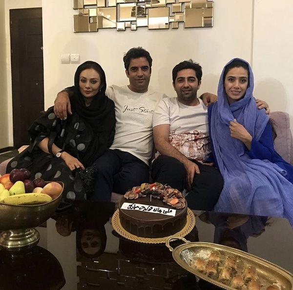 منوچهر هادی و یکتا ناصر در خانه بازیگر دل + عکس
