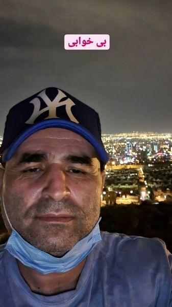 بی خوابی علی مسعودی در شب های تهران + عکس