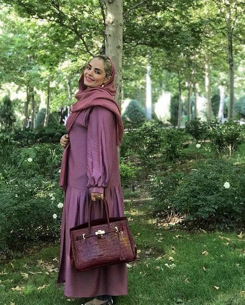 سپیده خداوردی در یکی از پارک های تهران + عکس