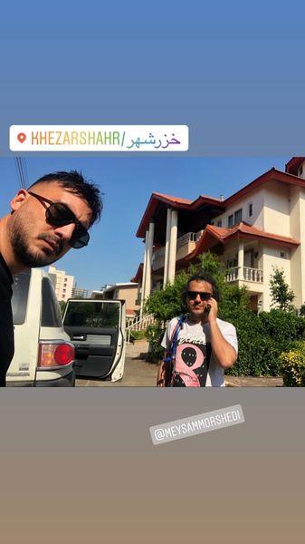سفر نیما شاهرخ شاهی و دوستشبه خزر شهر + عکس