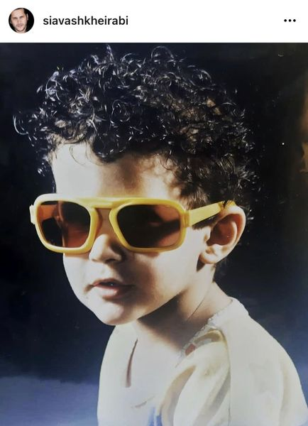 سیاوش خیرابی در کودکی + عکس