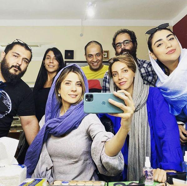 سلفی جدید سارابهرامی در اتاق گریم /عکس