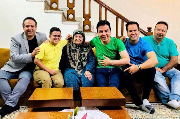 امیرمحمد مهمان خانه عمو پورنگ و مادرش+عکس