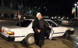 بنز سواري دولت روحاني به شيوه احمدي نژاد