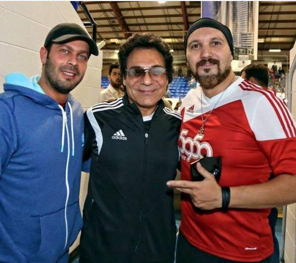 عکس جنجالی کامبیز دیرباز و پژمان بازغی با خواننده لس آنجلسی