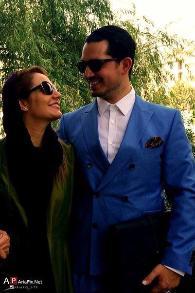 عکس عاشقانه مهناز افشار و همسرش