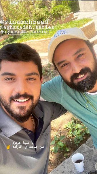 سلفی دوستانه بازیگران آقازاده + عکس